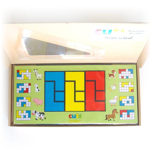 Magnetický hlavolam Cuts Junior, darčekové balenie, otvorené, magnetické puzzle pre malé deti | Cuts-hlavolam.sk