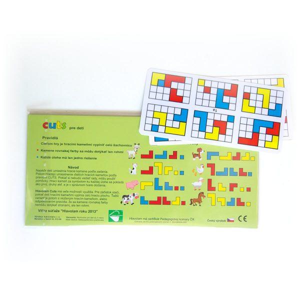 Detský hlavolam Cuts Junior, magnetický hlavolam pre najmenšie deti, zadná strana | Cuts-hlavolam.sk