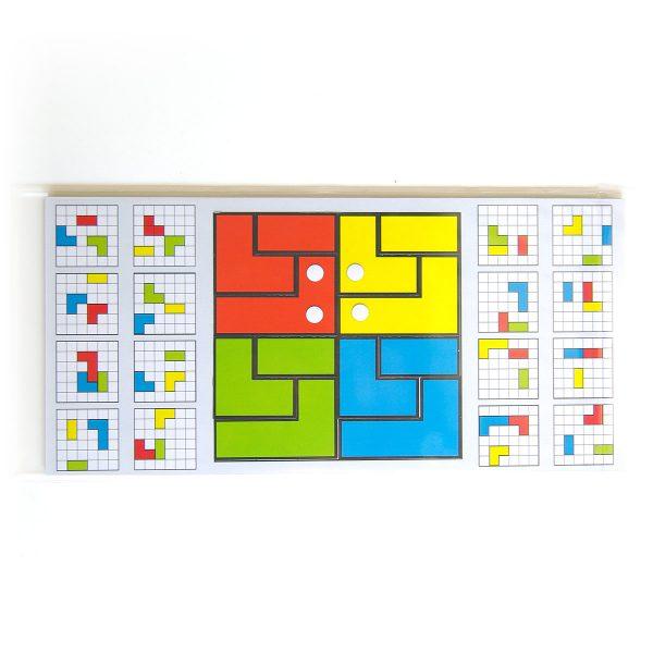 Magnetické skladačky pre deti Cuts Line, magnetický hlavolam pre deti, hracia doska | Cuts-hlavolam.sk