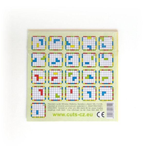 Magnetická hra pre deti Cuts Mini, logická hra pre deti, zadná strana | Cuts-hlavolam.sk