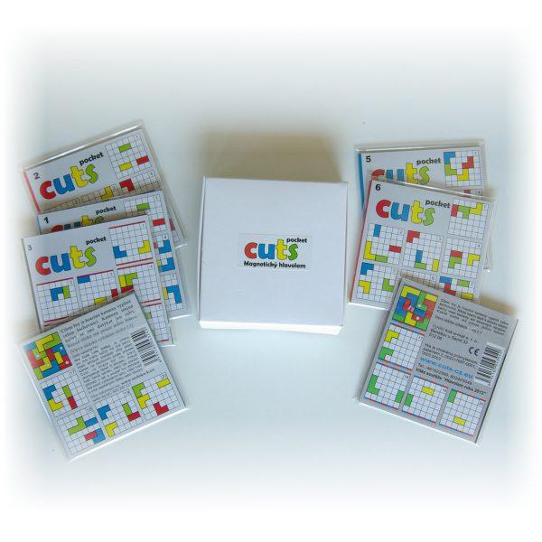 Magnetická skladačka Cuts Pocket Mega balenie, logická hra pre deti do kapsy, otvorený | Cuts-hlavolam.sk
