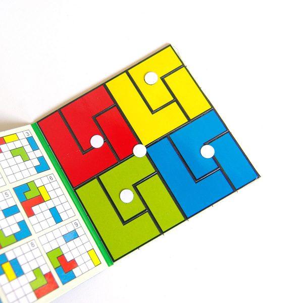 Magnetické puzzle Cuts Pocket, logická hra pre deti do kapsy, detail | Cuts-hlavolam.sk