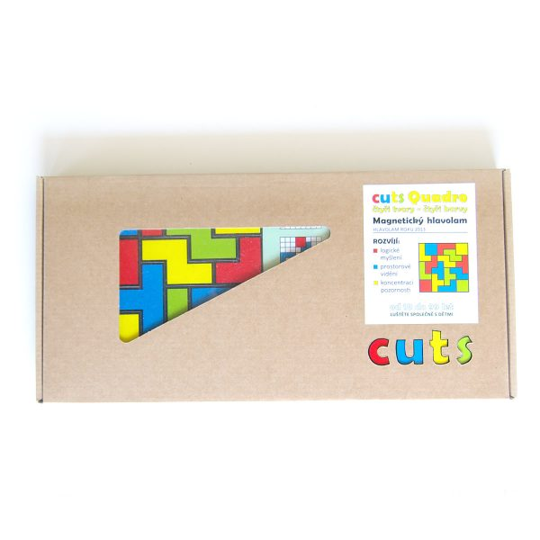 Magnetický hlavolam Cuts Quadro, logická hra pre deti a dospelých, darčekové balenie | Cuts-hlavolam.sk