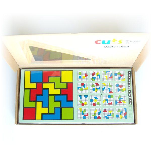 Magnetický hlavolam Cuts Quadro, logická hra pre deti a dospelých, darčekové balenie otvorené | Cuts-hlavolam.sk