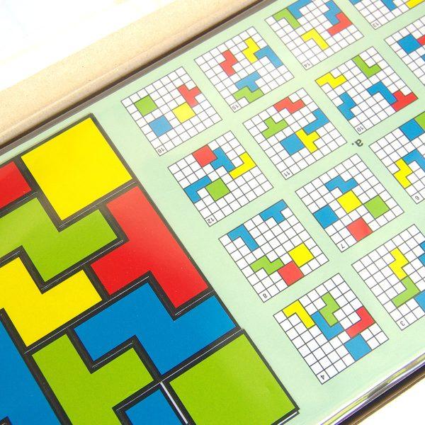 Magnetický hlavolam Cuts Quadro, logická hra pre deti a dospelých, hracia doska a úlohy | Cuts-hlavolam.sk