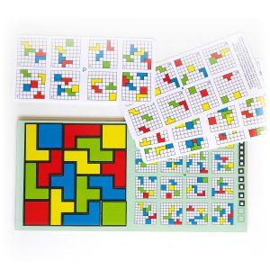 Magnetický hlavolam Cuts Quadro, logická hra pre deti a dospelých, hracia doska | Cuts-hlavolam.sk