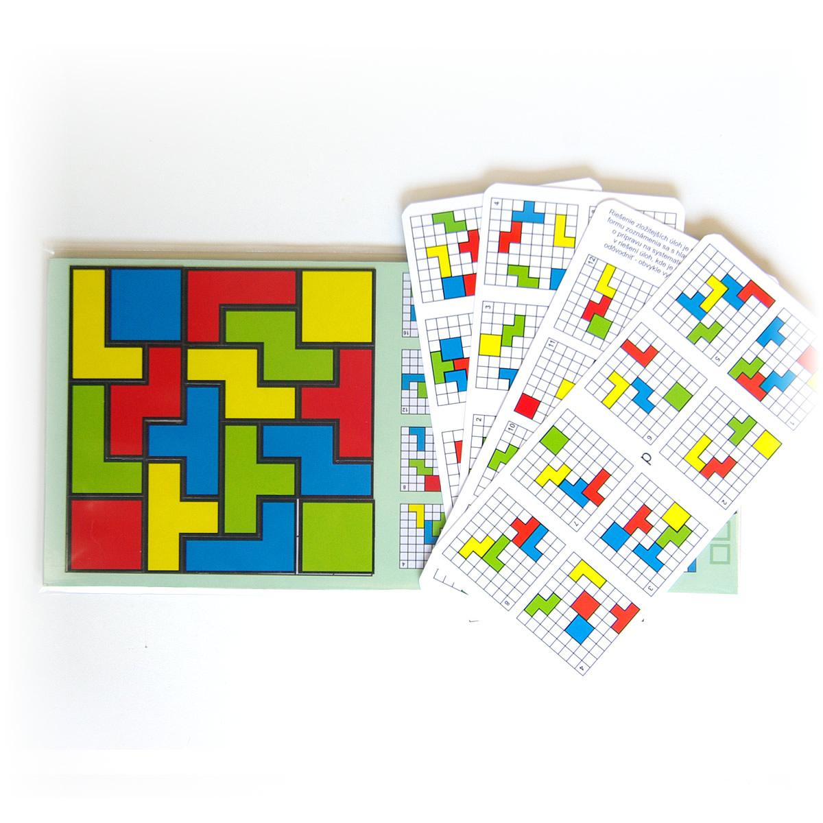 Magnetický hlavolam Cuts Quadro, logická hra pre deti a dospelých, detail hracej dosky | Cuts-hlavolam.sk